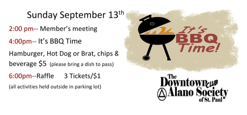 Member's Meeting & BBQ - September 13, 2020 at 2:00 p.m. CST